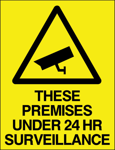 These premises under 24hr surveillance