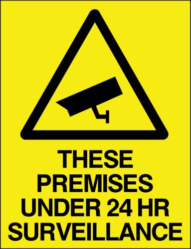 These premises under 24hr surveillance